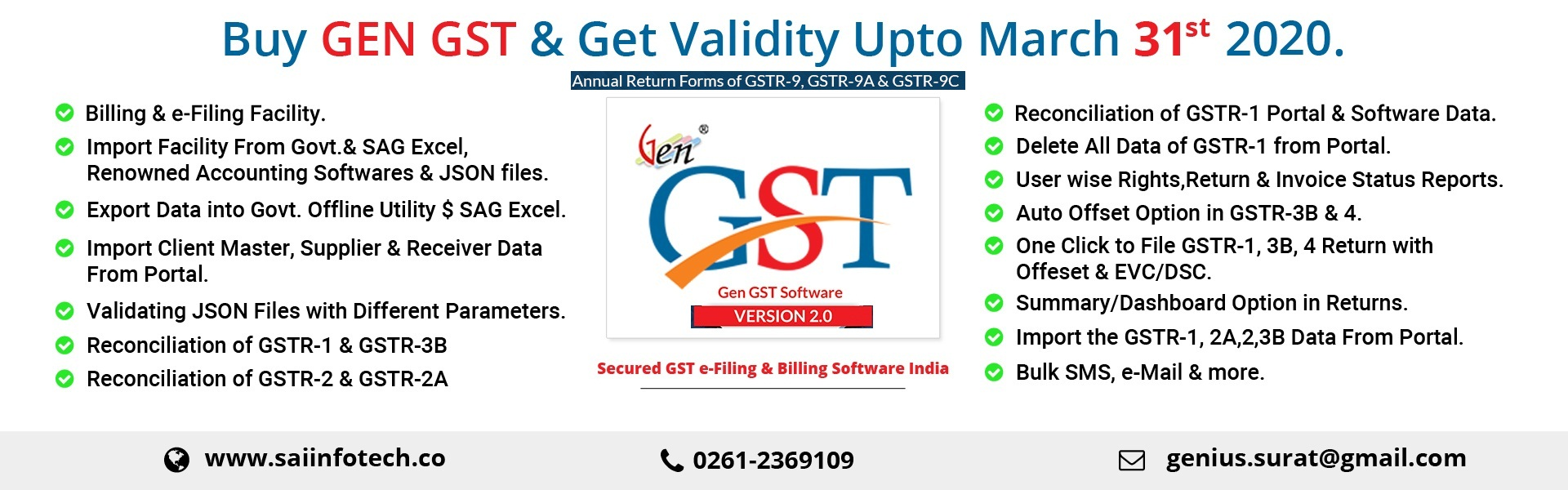 Sai Infotech | Genius Income Tax Software ,GST Software ,TDS